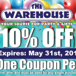 10% OFF!!! Expires: May 31st, 2014